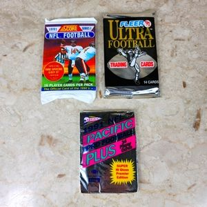 NFL Football Cards Mixed Lot. Include all 3 unopen